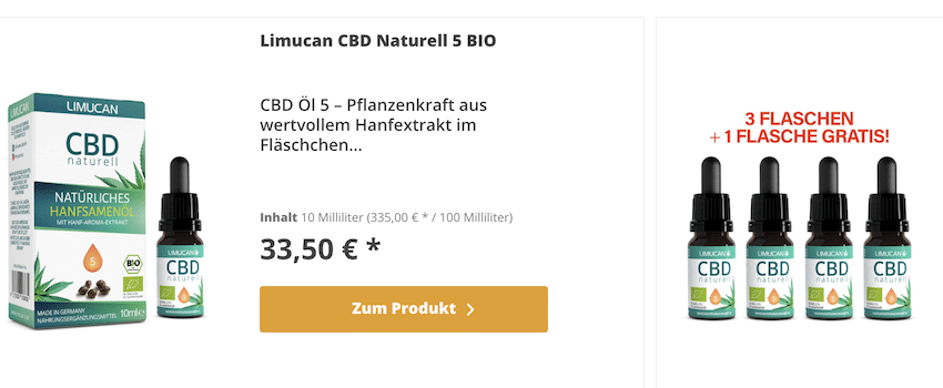Limucan CBD Öl Produkte