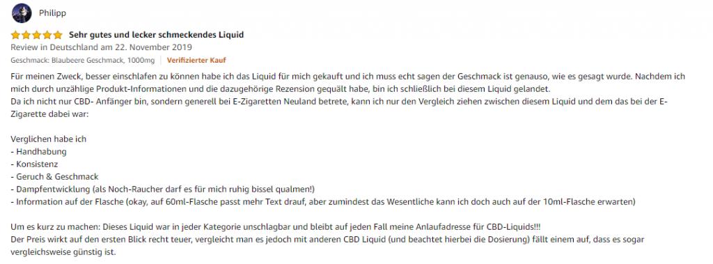 Erfahrungsbericht CBD Liquid kaufen